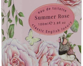 Luxury Organic Gift Summer Rose  with 100% Vegetable  Bath Soap & Body -Perfume- Lotion Ideal For Valentine - Him or Her- Birthday