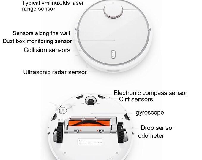 Roborock Xiaomi Vacuum AND Original Parts -Main Brush -Side Brush - Dust Box Filter- For Model  S6, S5, E35, E2 Robot Vacuum Cleaner