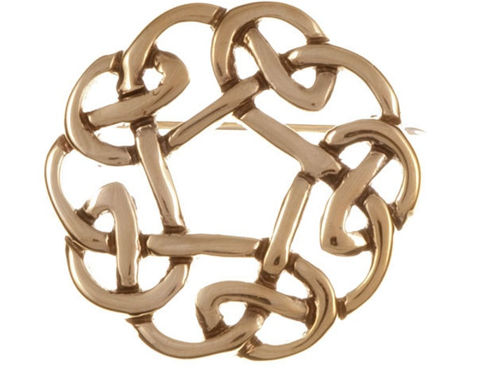 Pentagon knot brooch bronze  - Hand Made and Design in UK