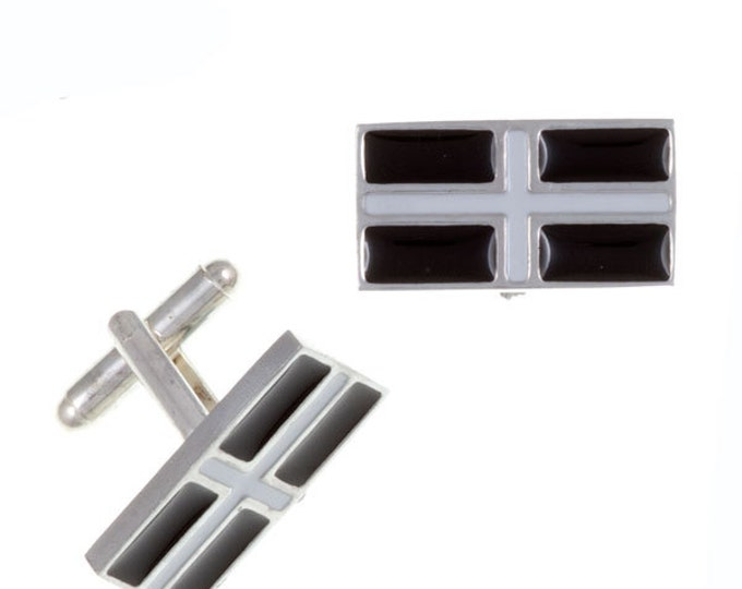 St Piran T-bar cufflinks- Hand Made and Design in UK