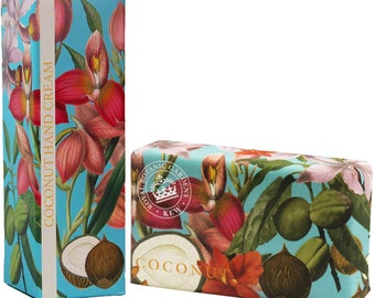 English Luxury Royal Botanical Coconut Kew Gardens Gift Set -Soap & Hand Cream-Gift For Him or Her