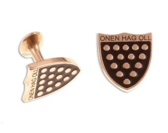 One & all Cornish cufflinks – bronze- Hand Made and Design in UK- SKU: BZCL03