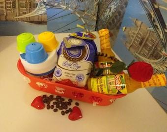 Luxury Hampers Gift Baskets Jamaica Blue Coffee -Gifts Basket with 100% Jamaica Blue Mountain Coffee -Ideal For Valentine -Anniversary