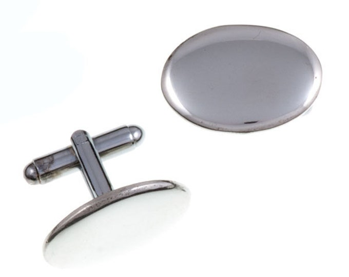 Oval T-bar cufflinks- Hand Made and Design in UK