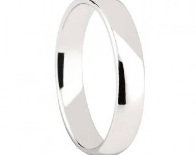 4 mm Cobalt Chrome Domed Shape Polished Ring Wedding Band - Comfort fit