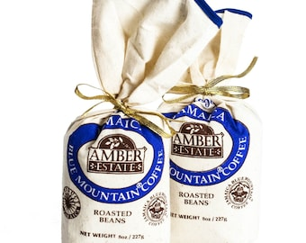 Blue Mountain Coffee 2 x 8 oz  Jamaica 100% Blue Mountain Coffee Bean Coffee Jamaicas Blue Mountain great gift idea- Limited