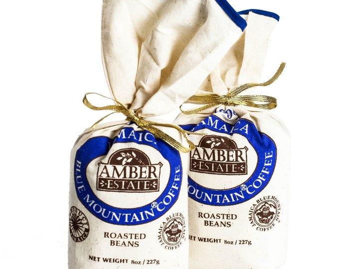 Blue Mountain Coffee 2 x 8 oz  Jamaica 100% Blue Mountain Coffee Bean Coffee Jamaicas Blue Mountain great gift idea- Limited