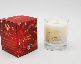 CANDLE Merry Christmas Pure Soy Luxurious Candle  Christmas Birthday Gift