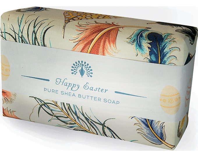 Happy Easter Soap Shea Butter Pure Indulgence Bath Soap-200g- Ideal Gift For Mom- Her-Dad- Him -Birthday - or Just For You