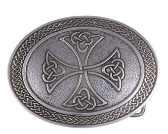 Border cross belt buckle 40mm-Hand Made and Design in UK