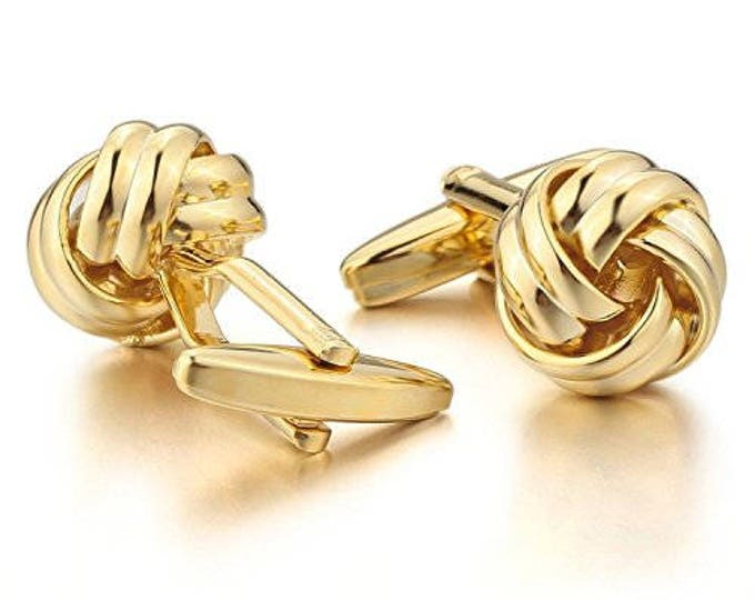 Knox Gold Plated Cufflink metal Cufflink for Shirt Unisex Men
