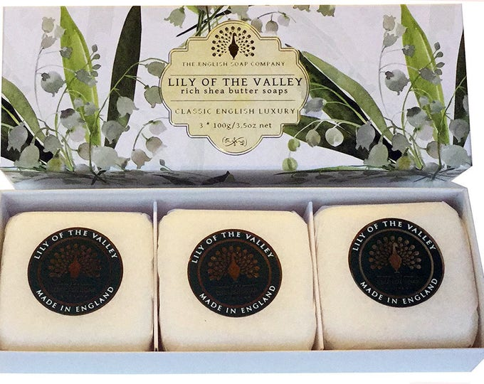 Lily of the valley 3x 100g Gift Boxed Hand Soaps
