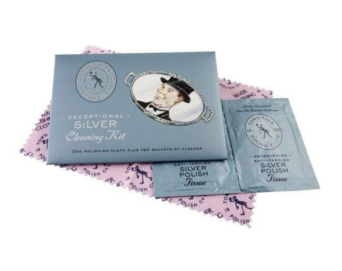 Town Talk Silver Polishing Cloth Anti- Tarnish Jewellery  Silver  Exceptional  Cleaning Set Cloth Sachets Cleaners Care Kit