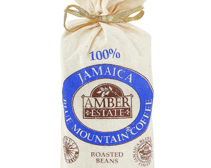 Ideal Gift Coffee Lover Jamaica Blue Mountain 8 oz (227g) Amber Coffee Bean 100%  Jamaica Blue Mountain Coffee Bean- Worl Best