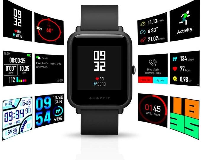 Amazfit Xiaomi Smart Watch Amazfit Bip GPS Smart Heart Rate Waterproof Glonass- Orange/Black