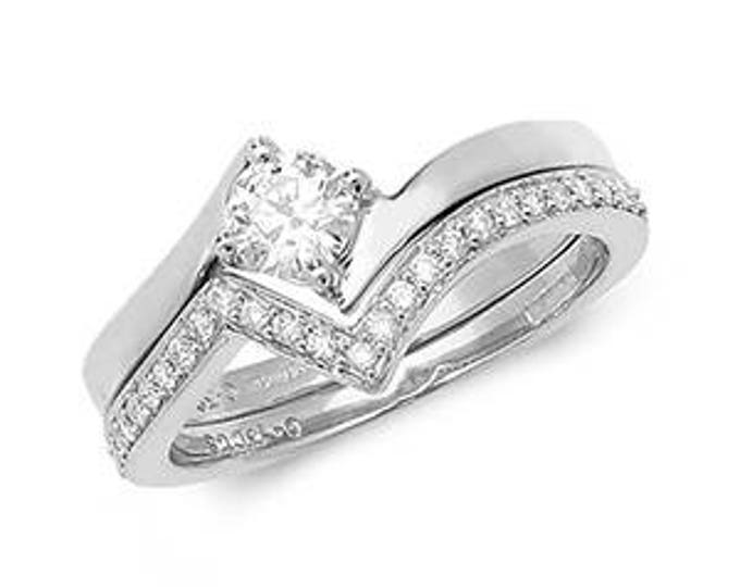 Diamond Wedding Ring Crossover Diamond Set