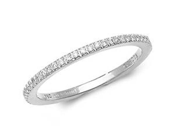 18ct White Gold ETERNITY DIAMOND Half Eternity Ring Band