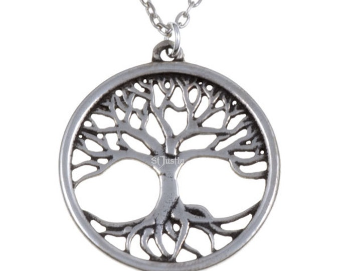 Tree of life Pewter pendant- Hand Made in UK