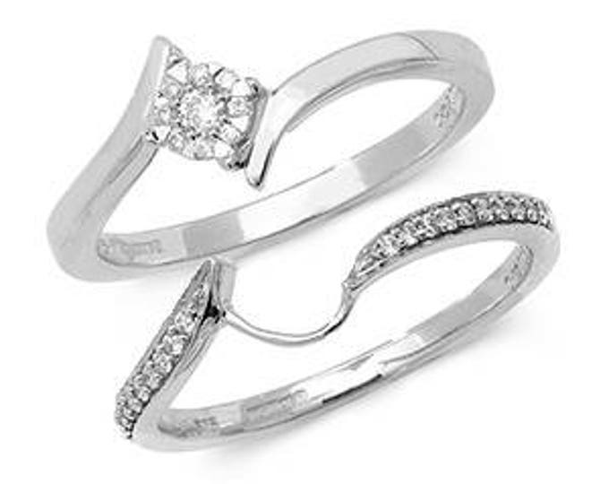 Crossover Brillant Diamond Ring Set Diamond Wedding