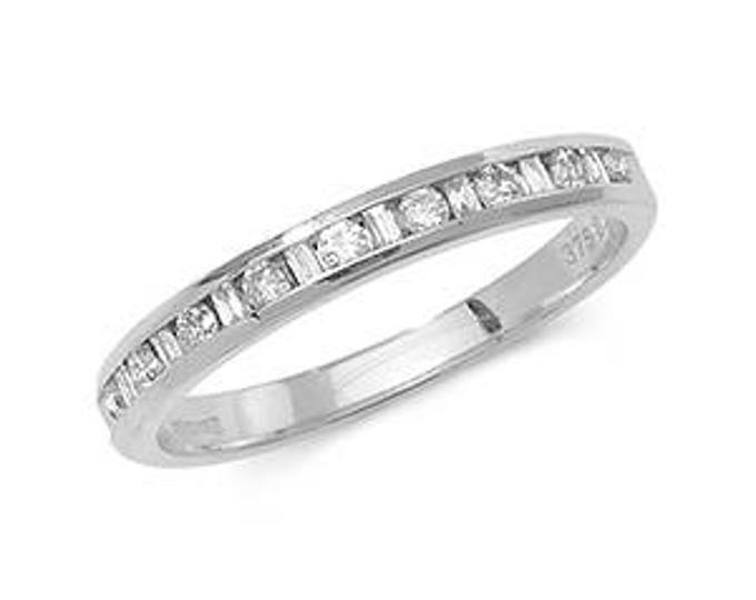 Diamond Wedding Band  HALF ETERNITY Ring Made in Diamond District  London Hatton Garden