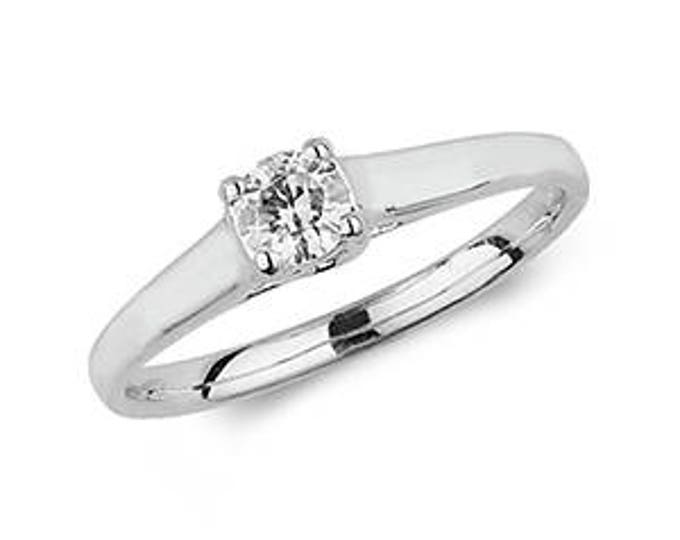 Diamond  SOLITARE Wedding Engagement Ring- 9ct Solid Gold Ring