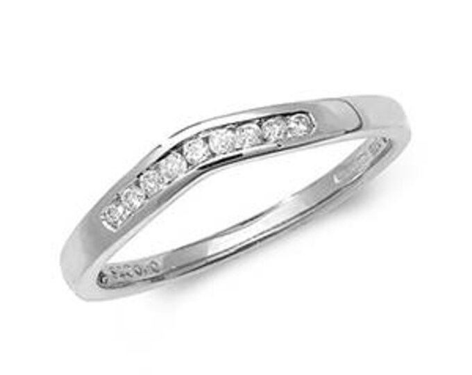 Diamond Wishbone White Gold Ring