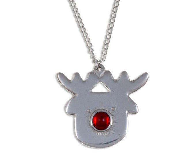 Rudolph pendant – A lovely Rudolph the red nosed reindeer pendant.- Handmade and Design in UK