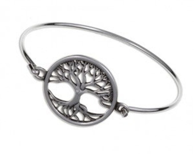 Tree of life clip bangle-Hand Made and Design in UK
