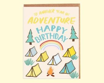 Magical Camp Birthday Card-007C, greeting card, birthday card, happy birthday card