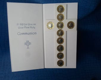 First Holy Communion gift ( unique card ) boy