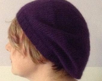 1ba76ba3 Alpaca slouchy hand knitted beret