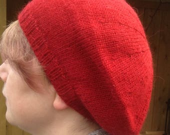 0e6cb75ed30 Alpaca slouchy hand knitted hat