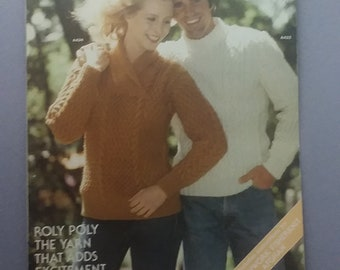 Vintage Unger knitting pattern Britania Leaflet 226 from 1979 Sweaters for Women and Men