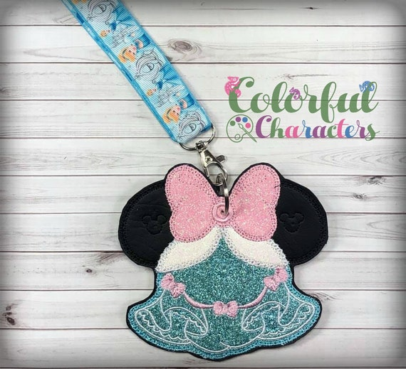 Princess Mouse ears lanyard, luggage tag, identification tag, pin