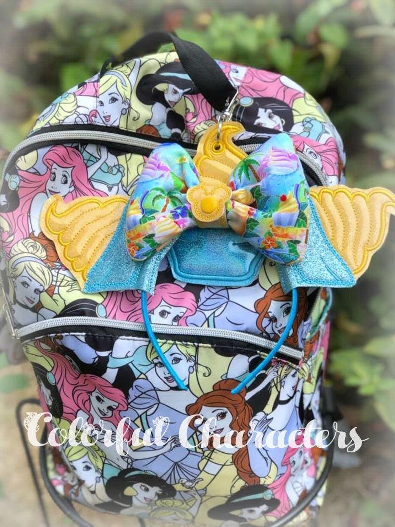 purse charm mouse ears Hawaiian Alien Stitch Ears Holder ohana backpack charm
