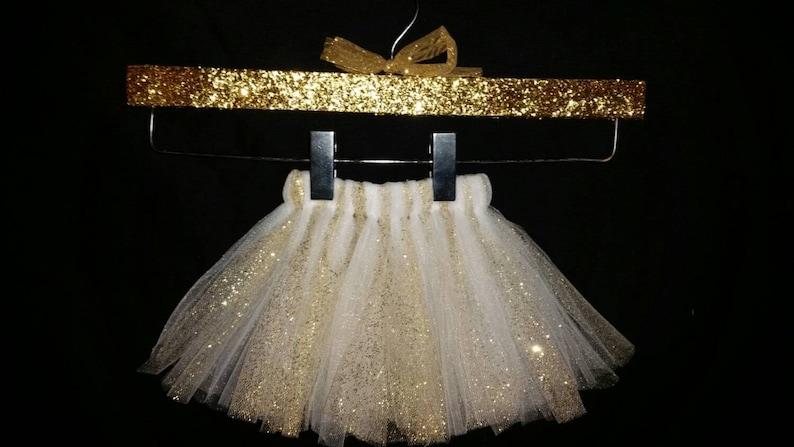 Gold Tutu Glitter Tutu Gold and White Tutu White Tutu Girls Tutu White and Gold Tutu Infant Tutu