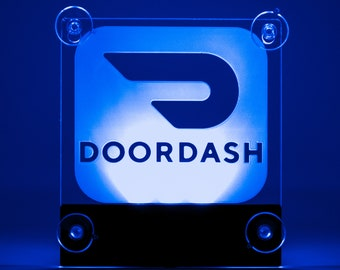 DoorDash Sign Glow LED Light Logo Removable Car Driver Window | Etsy