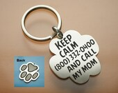 Pets dog tag, Dog Tag Custom two-sides, Dog Tag, Pet Tag, Custom stainless steel, - Hanmade, keep calm , personal, alloyed steel