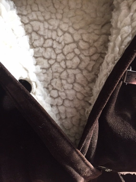 Full length vintage Suede and shearling 70s Winte… - image 4