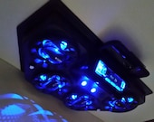 Golf Cart UTV Overhead Stereo Radio Console Bluetooth 4 Blue LED Speaker System