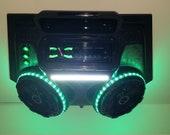NEW Overhead Stereo Radio Console UTV Golf Cart Tractor 6.5 quot Kickers Bluetooth Green Surround Lights