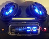 Overhead Stereo Radio Console UTV Polaris RZR Ranger General Golf Cart LOUD Boss Multi Colored 6.5 quot Speakers