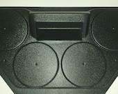 Golf Cart UTV Overhead Stereo Console Radio Housing Holds Four Speakers (EMPTY)