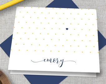 Emory Thank You Note Card / Emory Graduation Gift / Emory Stationary / Emory Graduation Gift / Emory Stationery / Emory Eagles Present
