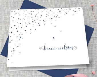 Personalized Stationery / Personalized Stationary / Monogram Stationary / Custom Stationary / Stars Stationary / Personalized Note Cards