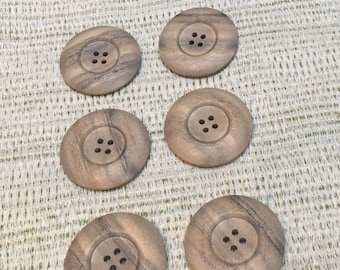 """4 Hole Sewing Button Large Coat Buttons Pack of 2 x Giant 2/"""" Wooden Buttons"""