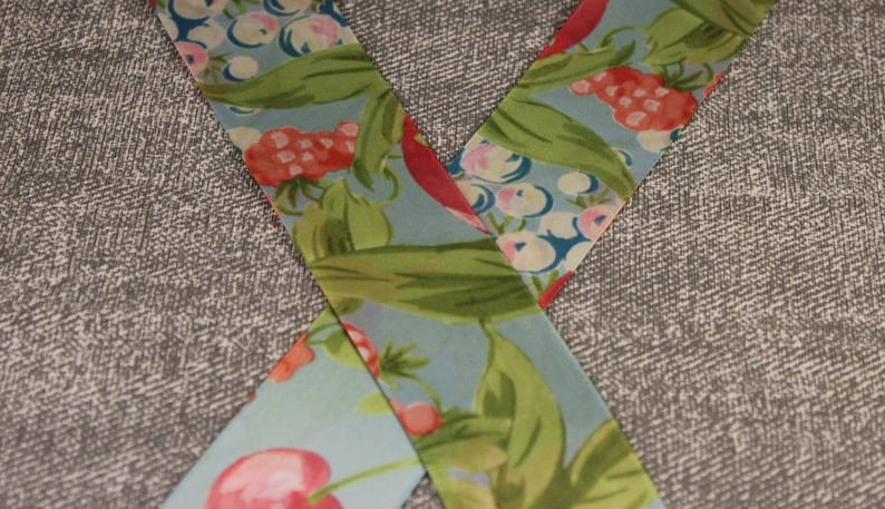 1.5 Gorgeous GreenBlue Vintage Doubled sided Offray Ribbon 39mm 1 x 2.5M LEFT