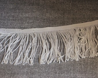 "White 100mm/4"" Polyester Fringe"