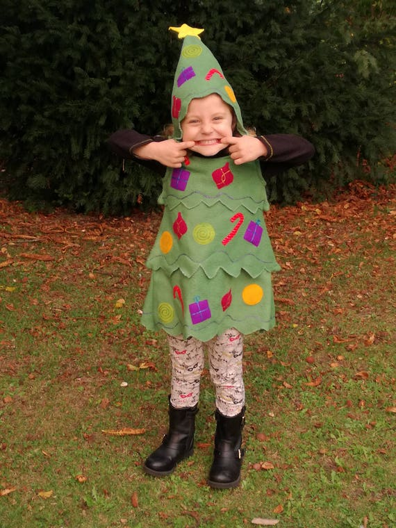 Toddler Christmas Tree Costume.Christmas Tree Costume Childrens Handmade Perfect For Christmas Parties