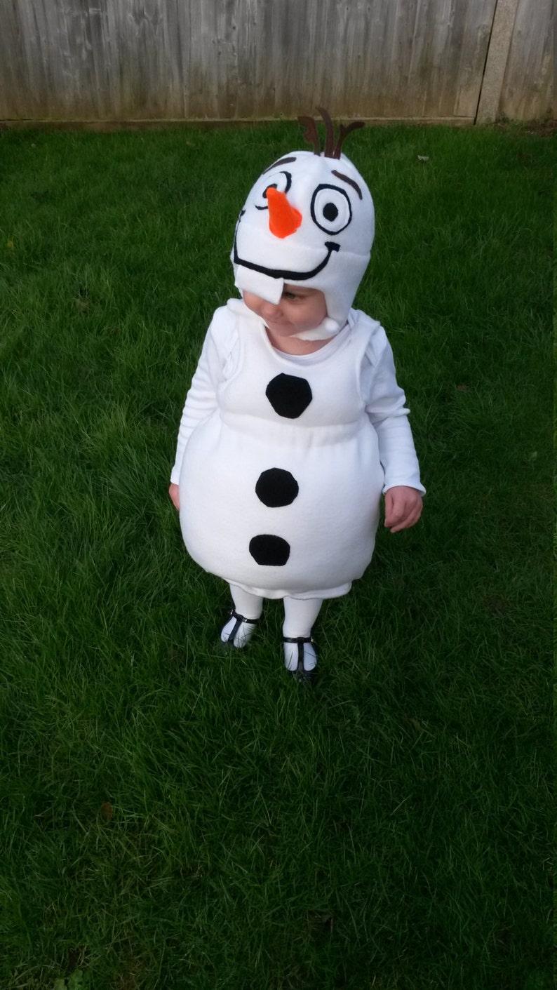 4c5af672a640 Disneys Olaf Snowman costume. Unisex for Children Toddlers